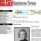 ART BUSINESS NEWS Website ~ Emerging Artist