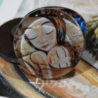 Katie m. Berggren glass art magnets