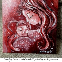 Growing Calm ~ original painting sold, search her name at Shop.KmBerggren.com for prints - or email me at Katie@KmBerggren.com