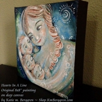 Hearts In ALine ~ original painting sold, search her name at Shop.KmBerggren.com for prints - or email me at Katie@KmBerggren.com