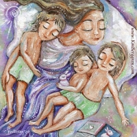 Mid-Day Miracle ~ original painting sold, search her name at Shop.KmBerggren.com for prints - or email me at Katie@KmBerggren.com