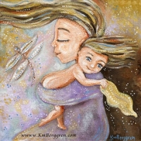 Source Of Joy ~ original painting sold, search her name at Shop.KmBerggren.com for prints - or email me at Katie@KmBerggren.com