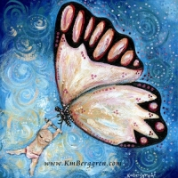 Joyous  ~ original painting sold, search her name at www.KmBerggren.com for prints - or email Katie@KmBerggren.com