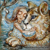 Love Despite Flaws ~ original painting sold, search her name at www.KmBerggren.com for prints - or email Katie@KmBerggren.com