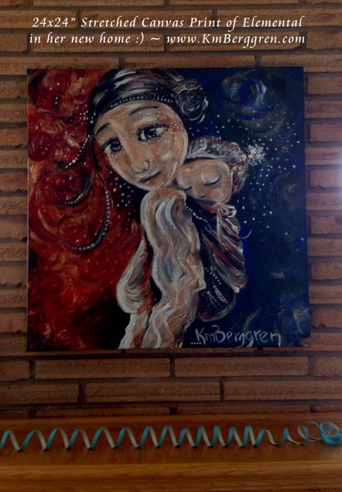 collector display of stretched canvas print
