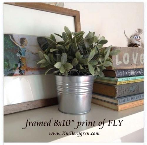 """framed 8x10"""" print of Fly"""