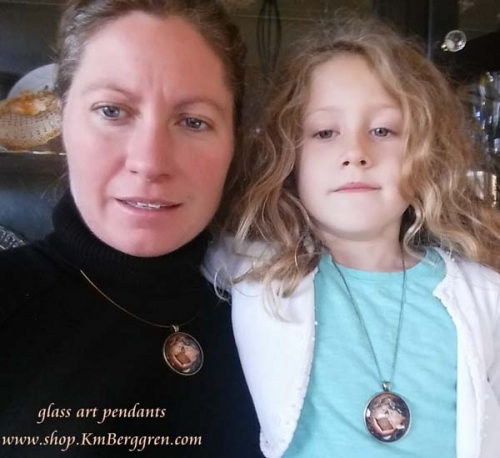 glass art pendants
