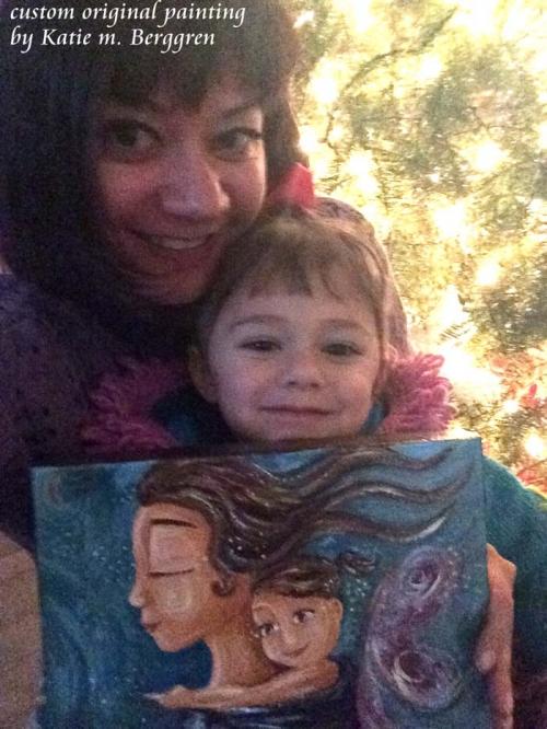 custom original painting with family