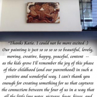 commissioned original painting on display