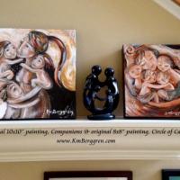 original mini paintings on display
