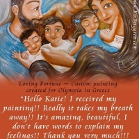 commissioned painting & client testimonial