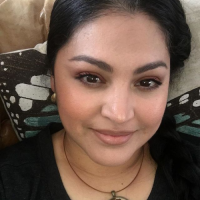 Beautiful Yvette with her pendant