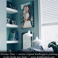 Precious Time, a custom painting in her new home
