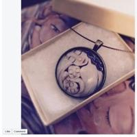 glass art pendant