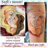 Original Painting On Deep Canvas & Tattoo