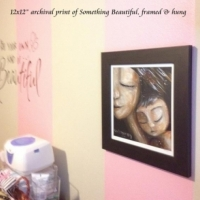 "12x12"" framed print, Something Beautiful"