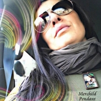 glass art pendant, Merchild