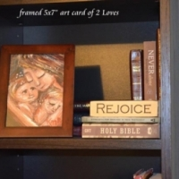 collector display of framed 5x7 art card