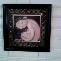 """collector display of framed 12x12"""" print, Time In"""