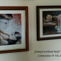 collector display of framed prints