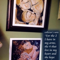 """12x12"""" framed print, Star Crossed (top) and The Sweetest of Dreams"""