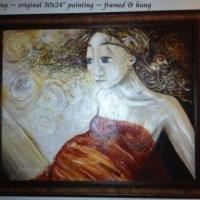 Nesting, original painting on canvas