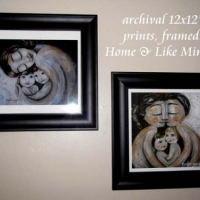 """12x12"""" framed print, Home (top) and Like Minded"""