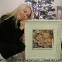 "framed 12x12"" print, Sacred Space"