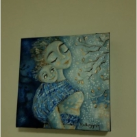 Divine Nature - original painting in her new home