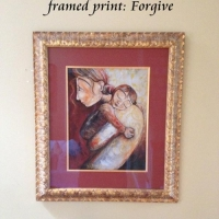 "8x10"" framed print, Forgive"