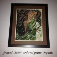 "13x19"" framed print, Organic"