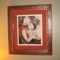 """framed 12x12"""" print of Crush"""