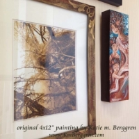 original painting in collector's home