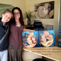 Dr. Amy Watson's 2 original paintings
