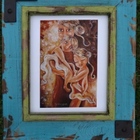Collector display of framed print