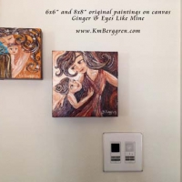 collector display of original paintings on canvas