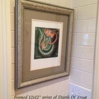 """framed 12x12"""" print"""
