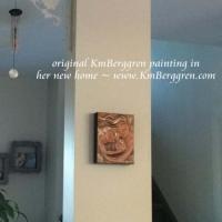 collector display of original mini painting