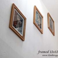 "Framed 12x12"" prints"