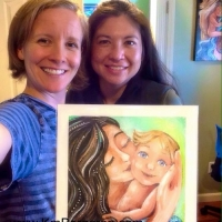 Katie & Robin with original painting Oneness