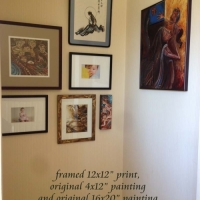 Framed Prints & Paintings in collector's home
