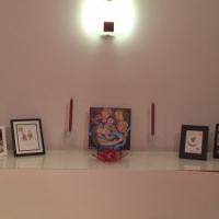 collector display of original painting