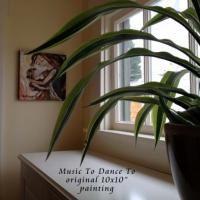 "collector display of original 10x10"" painting"