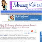 Katie m. Berggren featured on Mommy Kat and Kids