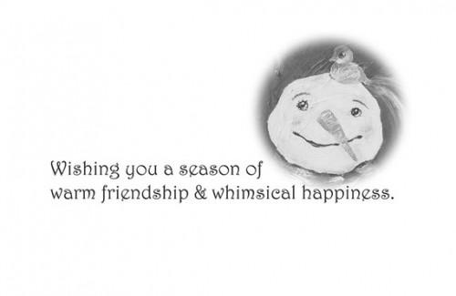 Warm Friendship ~ Holiday Cards by Katie m. Berggren