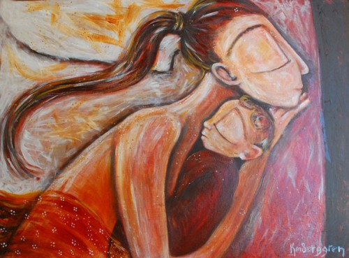 Edge of The Bed, painting by Katie m. Berggren