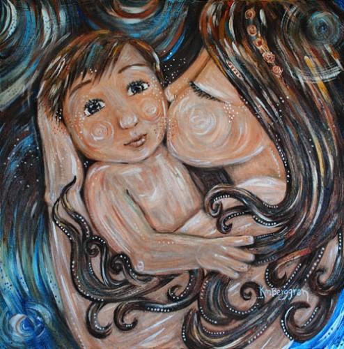Strong & New ~ brand new motherhood painting by Katie m. Berggren