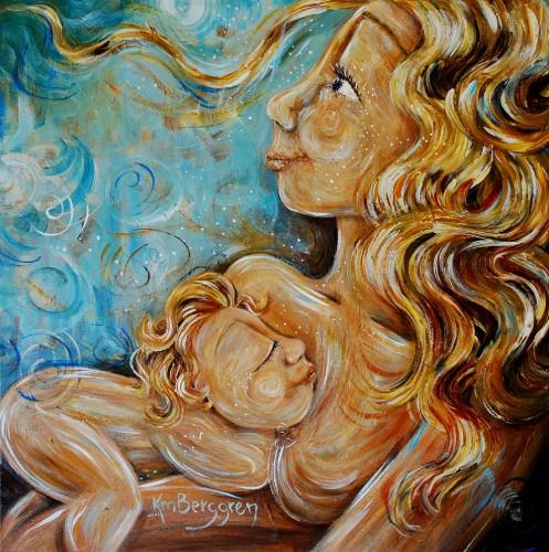 Whimsical Motherk painting by Katie m. Berggren