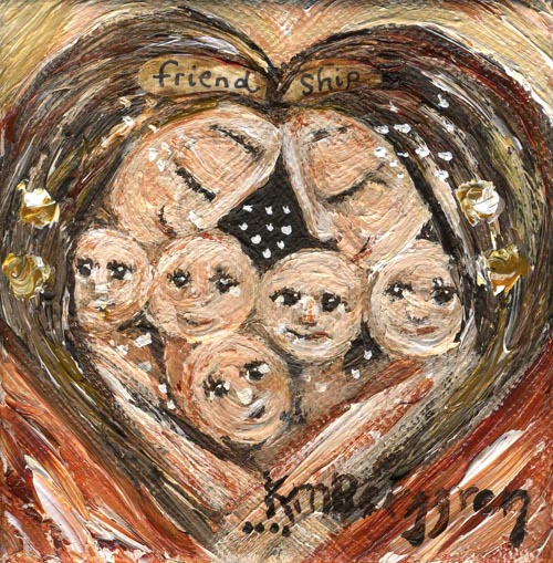 Friendship 4x4 painting as 8x10 print