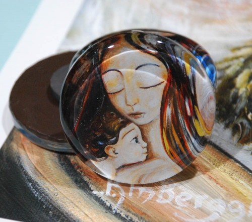 Drape glass art magnet by Katie m. Berggren